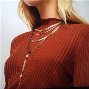 Free People City Slicker Layered Necklace Gold